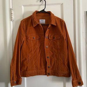 Burnt orange corduroy jacket